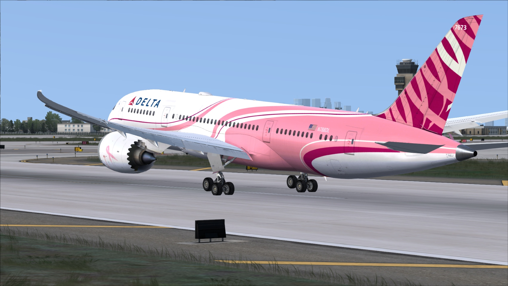 Delta PINK 787-8 Now Available!!! - QualityWings Simulations