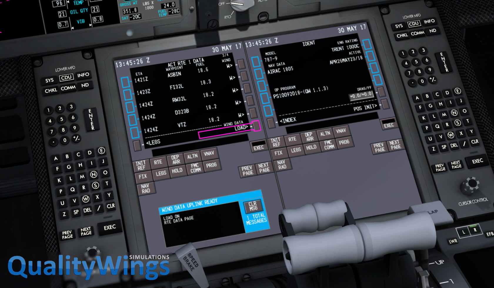 Ultimate 787 - Version 1 1 3 released - QualityWings